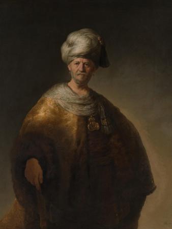 Portrait of an Oriental Man, the Noble Slav, 1632 by Rembrandt van Rijn