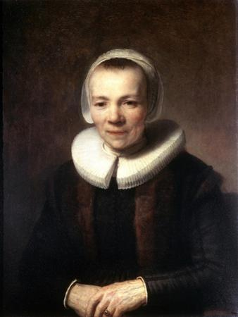 Portrait of Baartje Martens-Doomer, C1640 by Rembrandt van Rijn
