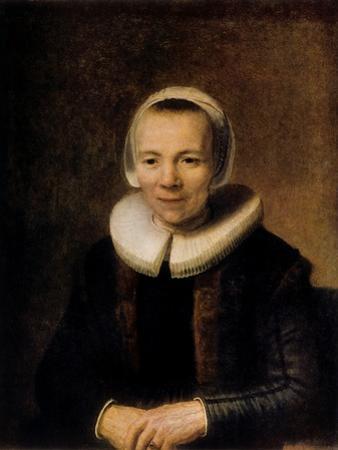 Portrait of Baertje Martens, 1649 by Rembrandt van Rijn