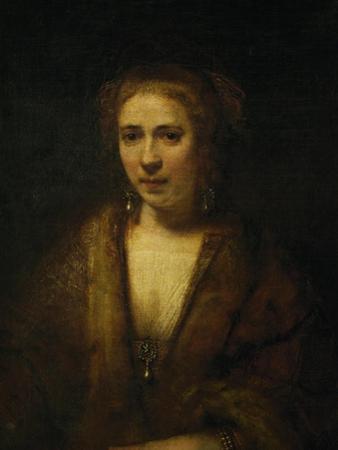 Portrait of Hendrijke Stoffels, 1655 by Rembrandt van Rijn