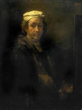 Portrait of the Artist at His Easel, 1660 by Rembrandt van Rijn