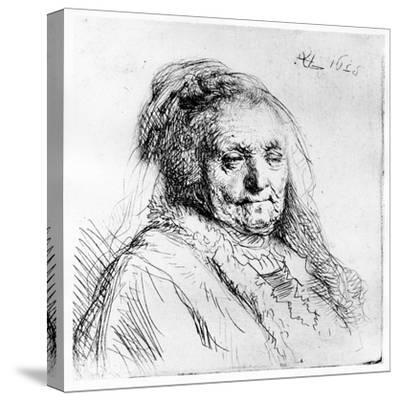 Portrait of the Artist's Mother, 1628 (Etching)