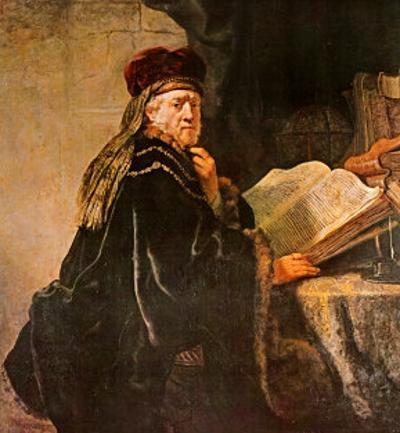 Rabbi by Rembrandt van Rijn