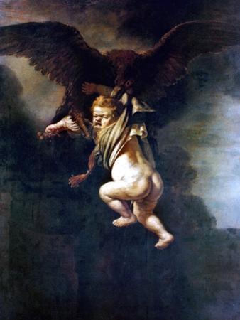 Rape Of Ganymede by Rembrandt van Rijn