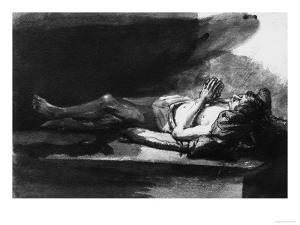 Reclining Figure in Prayer, British Museum, London by Rembrandt van Rijn