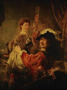 Rembrandt (Self-Portrait) and Saskia in the Parable of the Prodigal Son, 1635-39 by Rembrandt van Rijn
