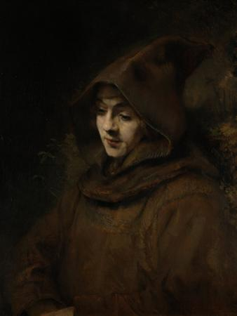 Rembrandts Son Titus in a Monks Habit by Rembrandt van Rijn