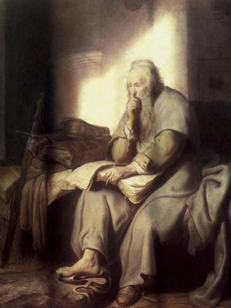 Saint Paul in Prison by Rembrandt van Rijn