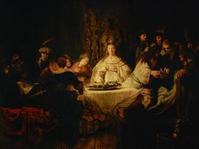 Samson Posing a Riddle at the Wedding Feast, 1638 by Rembrandt van Rijn