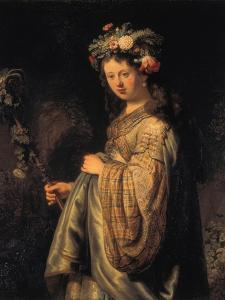 Saskia as Flora, 1634 by Rembrandt van Rijn
