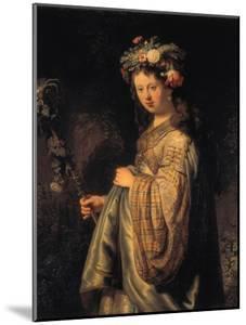 Saskia as Flora, 1634 by Rembrandt van Rijn