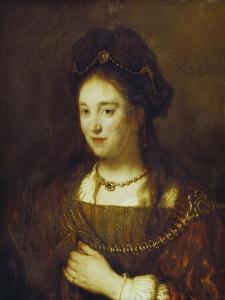Saskia, the Wife of Rembrandt, 1643 by Rembrandt van Rijn