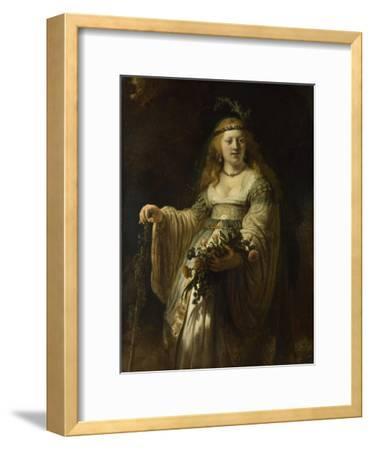 Saskia Van Uylenburgh in Arcadian Costume, 1635