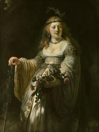 Saskia van Uylenburgh in Arcadian Costume, 1635 by Rembrandt van Rijn