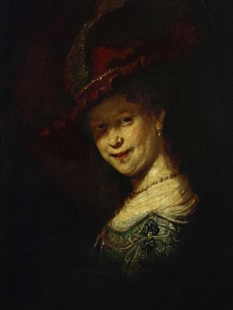 Saskia Van Uylenburgh (Rembrandt's Wife Whom He Married in 1634) by Rembrandt van Rijn