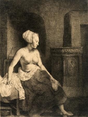 Seated Female Nude, 1658 by Rembrandt van Rijn