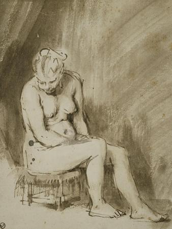 Seated Female Nude, 1660-62 by Rembrandt van Rijn