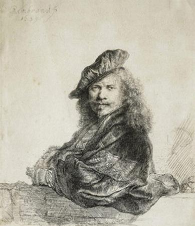Self-Portrait, 1639 by Rembrandt van Rijn