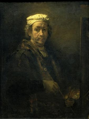 Self Portrait in Front of an Easel by Rembrandt van Rijn