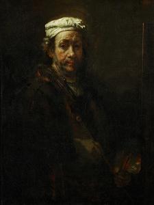 Self-Portrait with Easel, 1660 by Rembrandt van Rijn