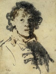 Selfportrait with Mouth Open by Rembrandt van Rijn