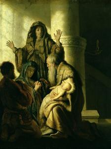 Simeon and Hannah in the Temple, circa 1627 by Rembrandt van Rijn