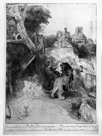 St. Jerome in an Italian Landscape, C.1653 (Etching)