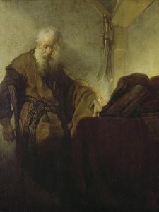 St, Paul, C. 1628-30 by Rembrandt van Rijn