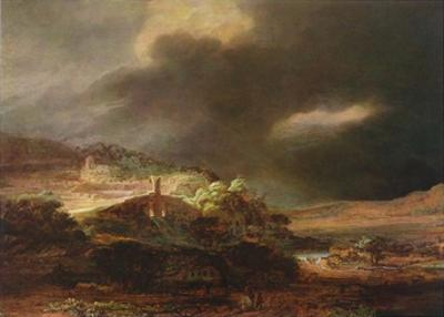 Stormy Landscape by Rembrandt van Rijn