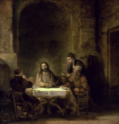 Supper at Emmaus by Rembrandt van Rijn