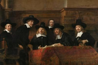 Syndics of the Drapers' Guild (The Sampling Official), 1662 by Rembrandt van Rijn
