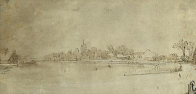 The Amstel Near Kostverloren, C.1651-52 by Rembrandt van Rijn