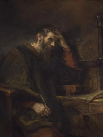 The Apostle Paul, C.1657 by Rembrandt van Rijn