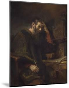 The Apostle Paul, C. 1657 by Rembrandt van Rijn