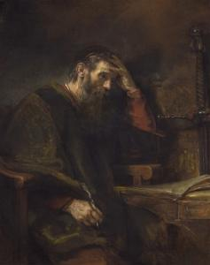 The Apostle Paul, C. 1657 by Rembrandt van Rijn