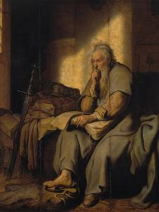 The Apostle Paul in Prison, 1627 by Rembrandt van Rijn
