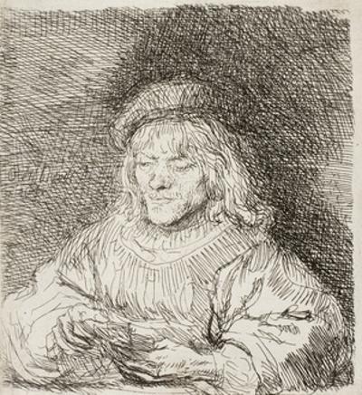 The Card Player, 1641 by Rembrandt van Rijn