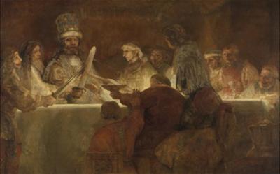 The Conspiracy of the Batavians under Claudius Civilis, 1661-62 by Rembrandt van Rijn