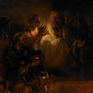 The Denial of Saint Peter, 1660 by Rembrandt van Rijn