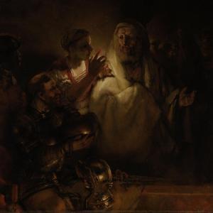 The Denial of St. Peter, 1660 by Rembrandt van Rijn