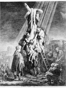 The Deposition, 1633 (Etching) by Rembrandt van Rijn