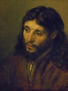 The Head of Christ by Rembrandt van Rijn