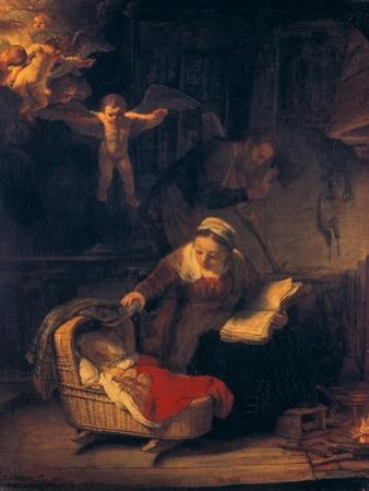 The Holy Family with Angels, 1645 by Rembrandt van Rijn