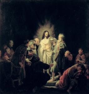 The Incredulity of St. Thomas by Rembrandt van Rijn