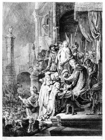 The Judgement of Christ, C.1636 (Etching) by Rembrandt van Rijn