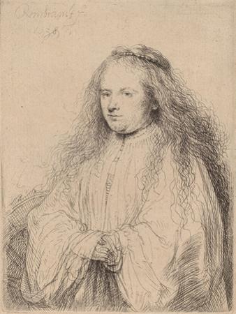 The Little Jewish Bride (Saskia as Saint Catherine), 1638 by Rembrandt van Rijn