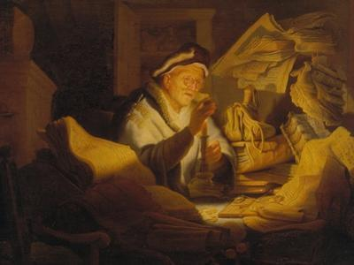 The Parable of the Rich Man (The Money Changer), 1627 by Rembrandt van Rijn