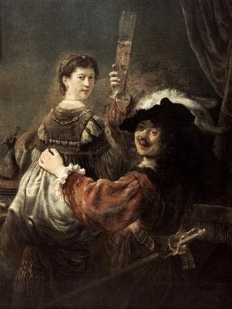 The Prodigal Son in the Tavern' (Rembrandt and Saski), C1635 by Rembrandt van Rijn