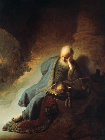 The Prophet Jeremiah Mourning over the Destruction of Jerusalem, 1630 by Rembrandt van Rijn