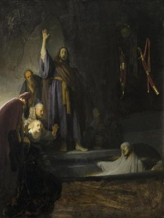 The Raising of Lazarus, c.1630-2 by Rembrandt van Rijn